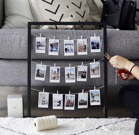 20+创意十足照片墙DIY方法,提升家居逼格