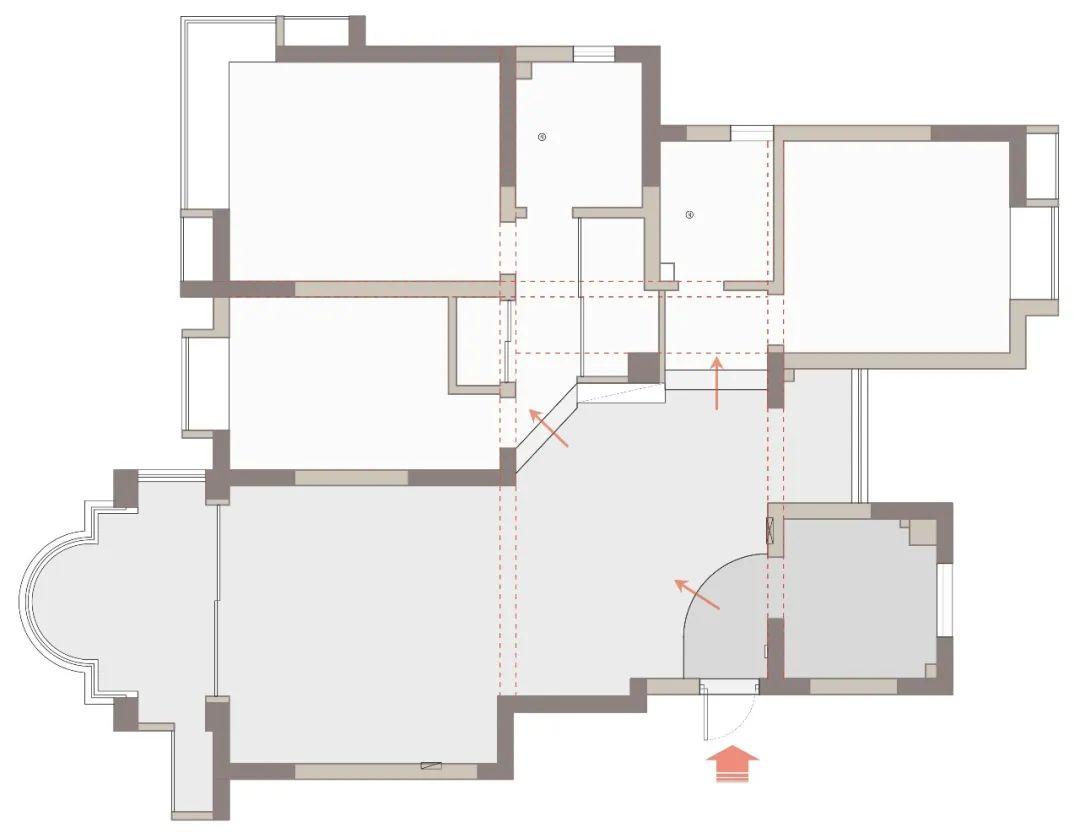 132㎡现代新中式,动静分离,引光入室,老房重获新生!