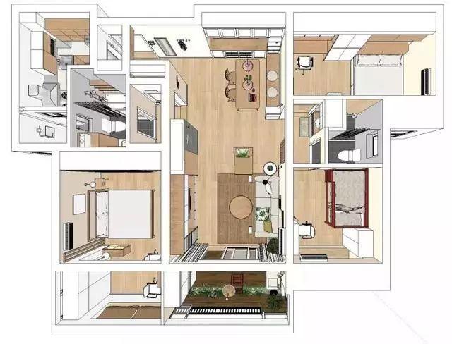 套内110平三房,全屋装修漂亮极了,一进门鞋柜太实用